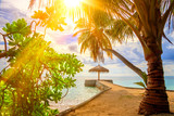 At the beach on Maldives - 183026629