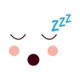 sleeping face emoji icon image vector illustration design - 183026832