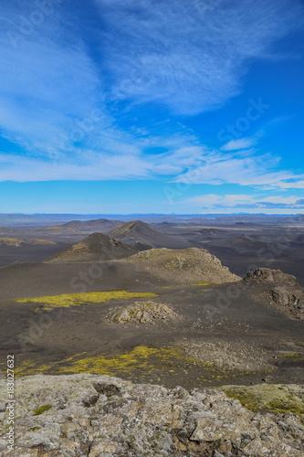 Foto op Canvas Grijs Volcanic landscape in the highlands of Iceland