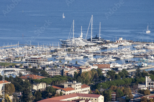 Fotobehang Liguria aerial view of la spezia