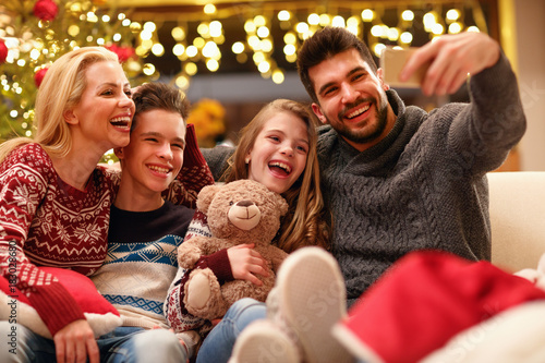 selfie with family on Christmas holiday.
