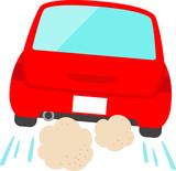 走り去る赤い自動車 - 183037272