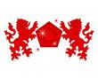 red diamond lion emblem
