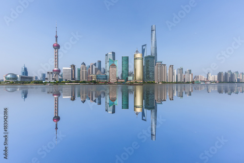 Keuken foto achterwand Shanghai panoramic view of shanghai skyline with huangpu river