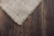 old wooden boards. sackcloth. background
