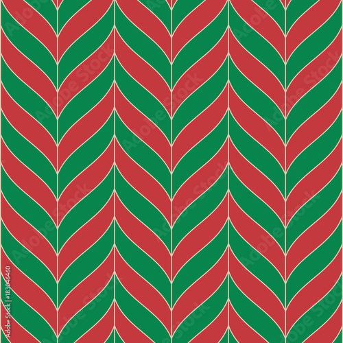 Fotobehang Abstractie Vector seamless pattern. Monochrome regular stylish grid. christmas candy color style