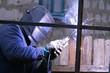 working welder. electrode welding. metal structures