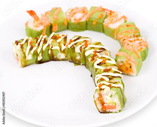 Fotobehang Sushi bar sushi rolls