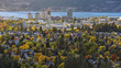 Kelowna Skyline with Okanagan Lake in the Background in the fall Kelowna British Columbia Canada