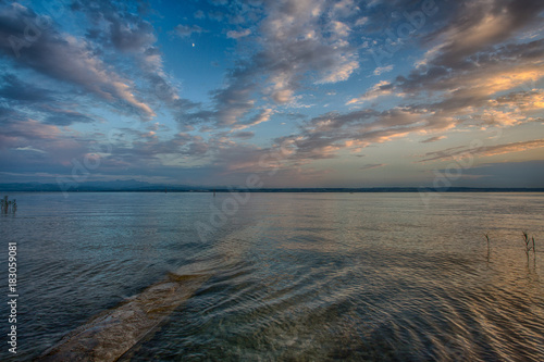Foto op Canvas Blauwe jeans Evening landscape of the Lake Constance or Bodensee in Germany