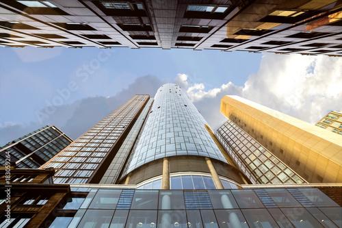 sunny skyscraper composing
