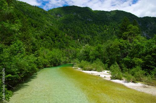 Fotobehang Bergrivier Landscape a river