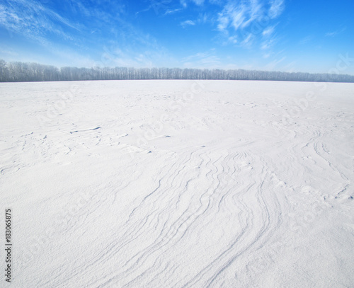 Foto op Plexiglas Wit field of snow
