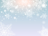 Christmas background with snowflakes - 183067881