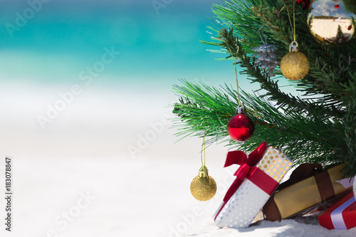 Foto Murales Australian Beach Christmas