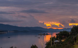 Sunset over the peninsula Peljesac 2 - 183083414