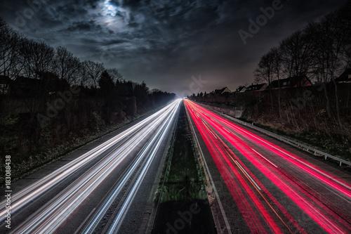 Foto op Aluminium Nacht snelweg A555