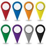 Pin Standort bunt - 183091282