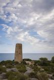 Torre de La Corda en la Sierra de Irta, junto al mar Mediterráneo. Orpesa. Castellón. España - 183091493