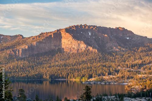 Sunset at Silver Lake, California Poster