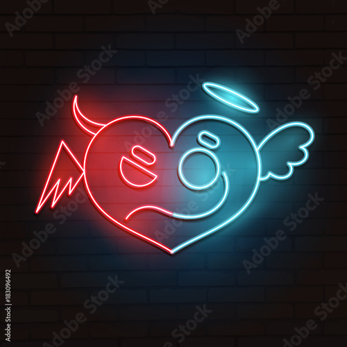 Neon heart illustration.