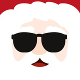 Cool Santa with sunglasses - 183100006