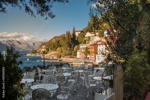 Foto op Canvas Zwart Varenna, small town in the vicinity of Lake Como, Italy.