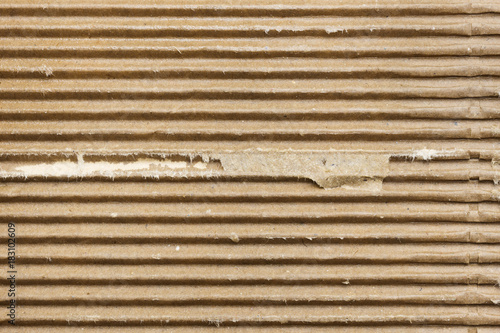 Plakat Striped old corrugated cardboard, background