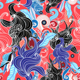 Abstract graphic seamless pattern - 183103220