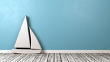 Sailboat Symbol Shape on Floor - 183103849