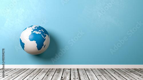 Earth Globe Against Wall