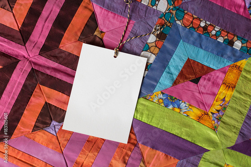 Handcraft Creating Gifting Concept There Is White Clean Card For