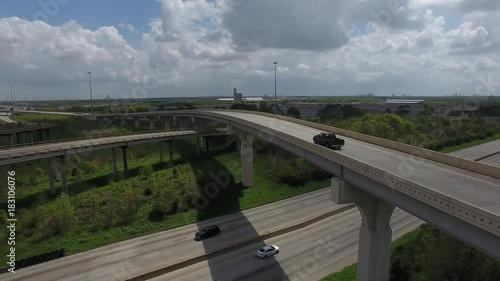 Sticker Houston Highway Bridge aerial video