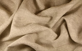 Linen unpainted fabric with a smooth surface and matte shine - 183107295