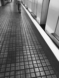 subway in black and white