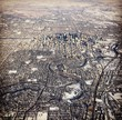 Winter aerial view of Calgary Alberta