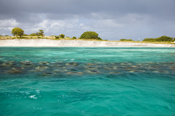 Shoreline Rebuilding With Artificial Reef, Antigua