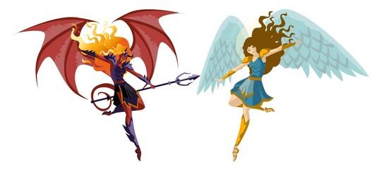 angel and demon women