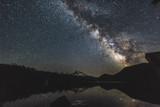 Mt Hood and Milky Way over Lost Lake Oregon