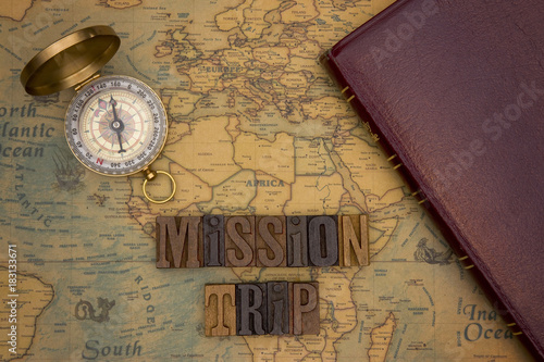 Fototapeta Chrstian Missions Throughout the World