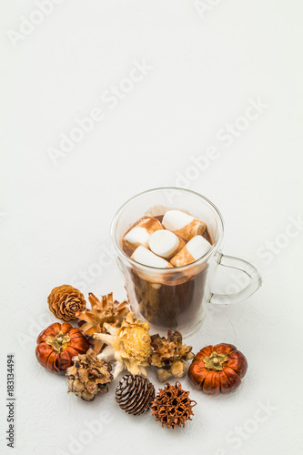 Foto op Canvas Chocolade ココア ホットチョコレート Hot chocolate winter drink