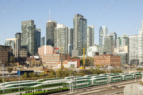 In de dag Toronto Skyline of Toronto, Canada