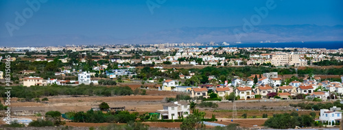 Foto op Canvas Cyprus cyprus city from height