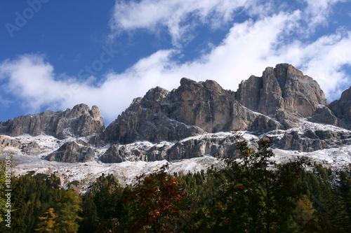 Foto op Canvas Zwart Berge Tirol