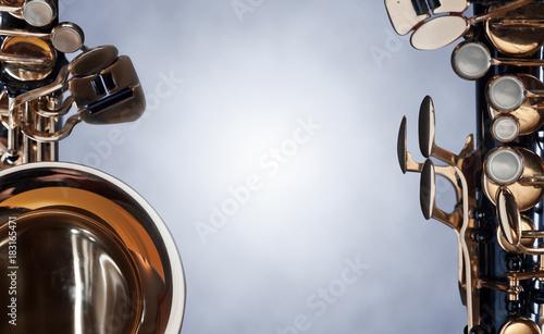 Fototapeta Close up of alto saxophone .