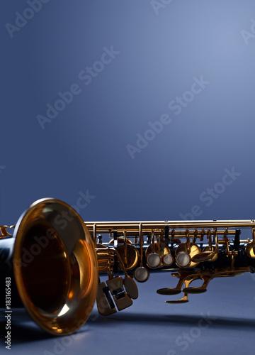Close up of alto saxophone. - 183165483