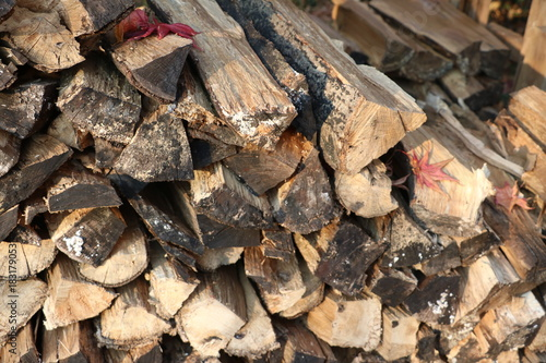 Staande foto Brandhout textuur 薪