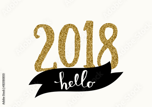 2018 New Year Greeting Card Template