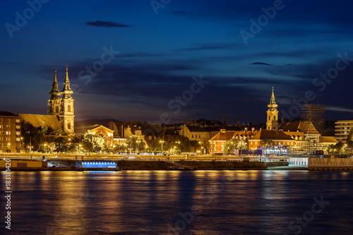 Foto op Canvas Boedapest Budapest City Skyline At Night In Hungary
