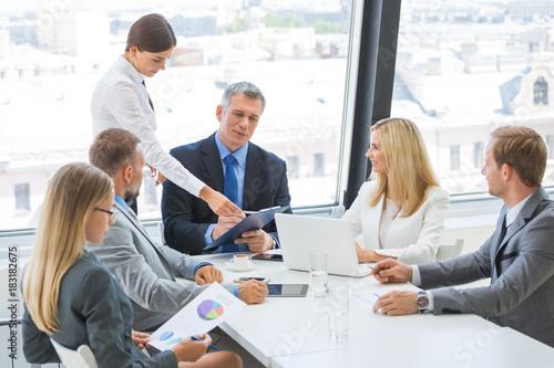 Fototapeta Business team at meeting
